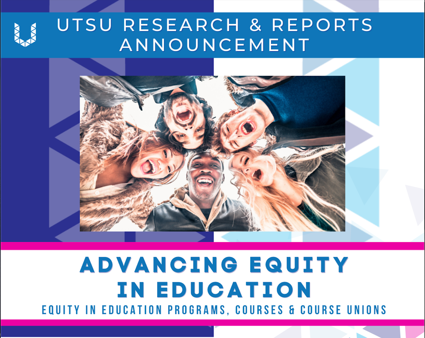 A flyer to promote the Advancing Equity in Education report