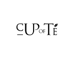 Word mark logo, black text with a white background saying Cup of Te